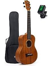 Solid Mahogany Ukalele Tenor Ukulele 26 inch Uke Hawaii Guitar Matt W/Bag and JOYO Tuner From Kmise