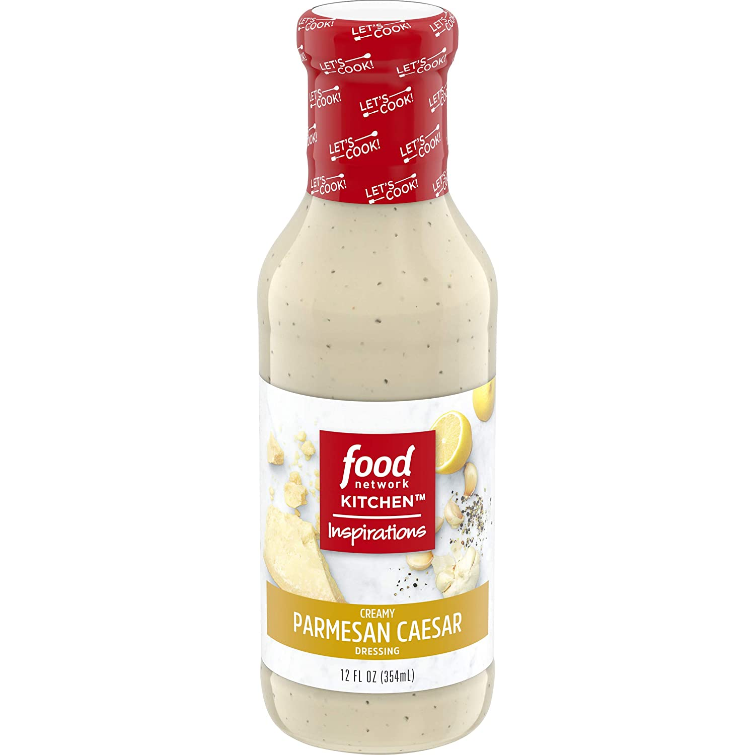 Food Network Kitchen Inspirations, Creamy Parmesan Caesar Dressing, 12 oz