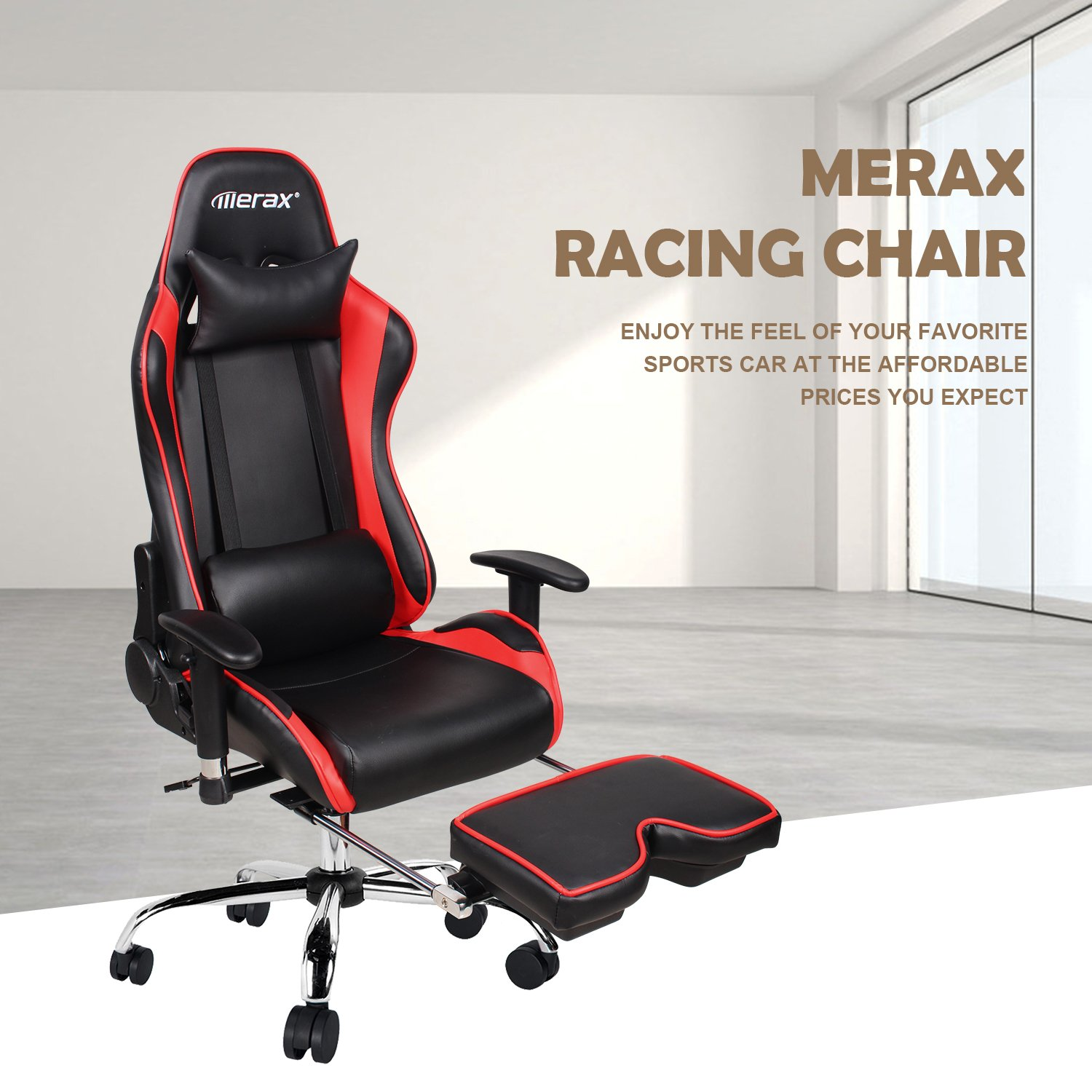 Amazon Merax Ergonomic Racing Gaming Chair with Adjustable
