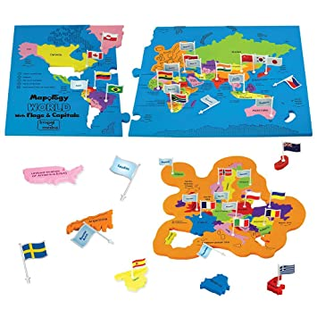 Amazon imagimake mapology world with flags and capitals imagimake mapology world with flags and capitals educational toy for boys and girls world gumiabroncs Images