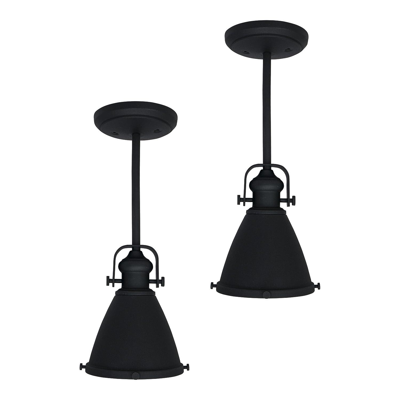 2pk | RV Kitchen Pendent Light | 12V LED | Textured Black | RV Decorative Light | RV Ceiling Light | RV Light Fixture | Dinette Pendent Light RecPro