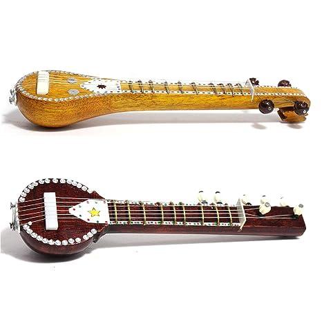 Hecho a mano Artesanía india Instrumentos Musicales en miniatura de madera Vina y Sitar: Amazon.es: Instrumentos musicales