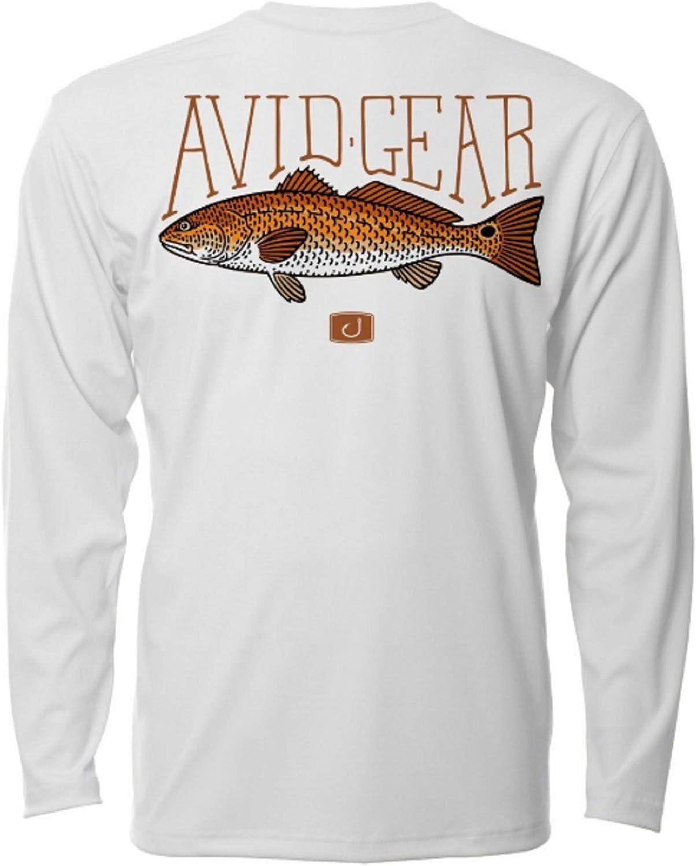 Avid Mens 50 UPF AVIDry Performance Long Sleeve Fishing Shirt