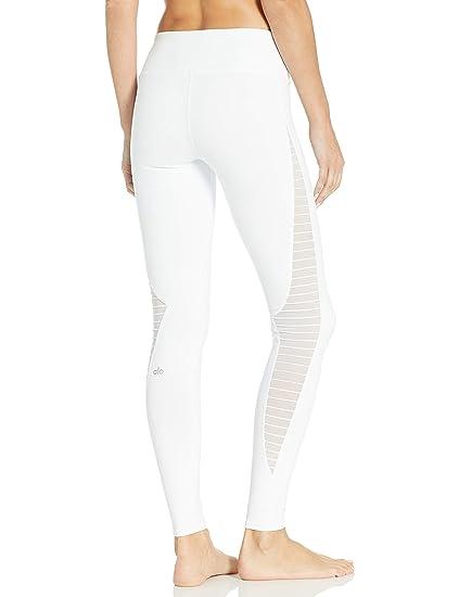 Alo Yoga Alo - Luminoso Leggings, Large, Blanco: Amazon.es ...