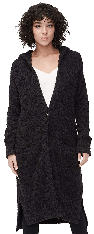 Black Judith Knit Plush Long Cardigan