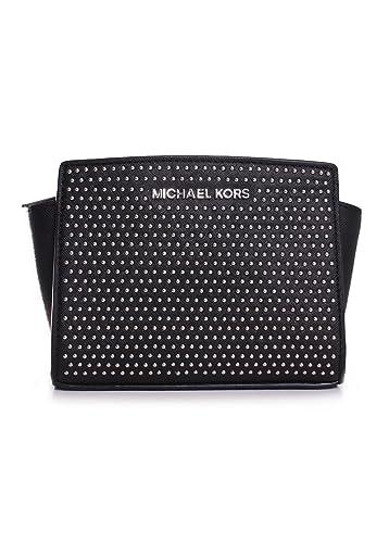 0a4c1d06449f Amazon.com  Michael Kors Micro Stud Selma Mini Messenger in Black  Shoes