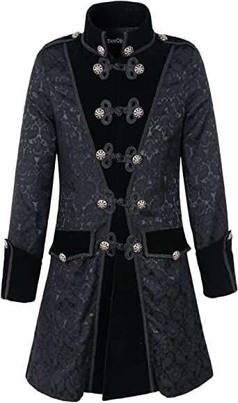 Black Size: Chest 42`-44`, .. COST-M NEW with Collar - Gothic Vampire Jacket