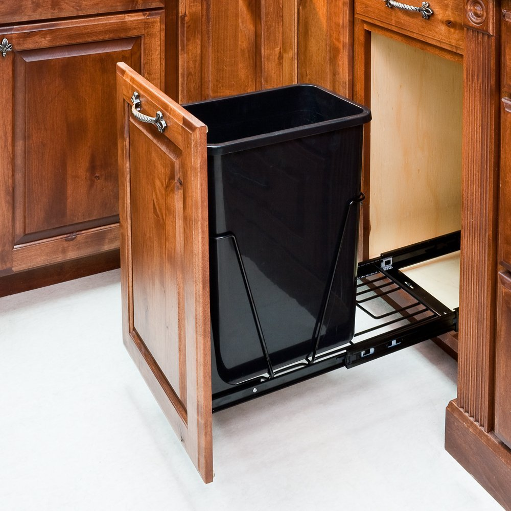 Amazon.com: 35-Quart Single Pull-Out Waste Container System With ...