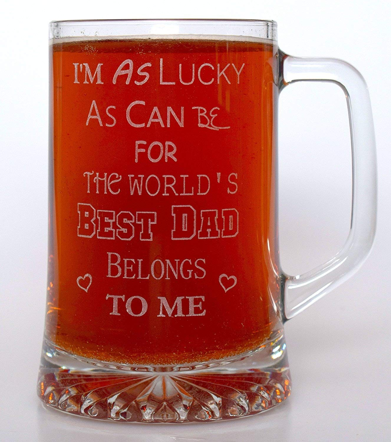 (FBA) World's Best DAD Pint Glass Tankard Gift Cr8 A Gift