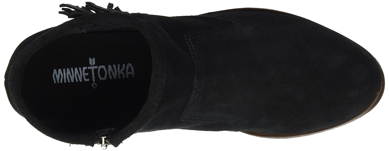 Minnetonka Round Women's Blake Fringe Boot Round Minnetonka Toe B01MSAHZP4 8 B(M) US|Black eae42a
