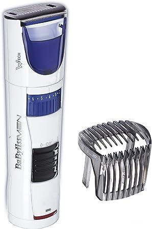 BaByliss - Recortador de barba T810E - Barbero con tecnología W-Tech, cuchillas de 35mm autolubricantes, recogedor de pelo y 60 min de autonomía.