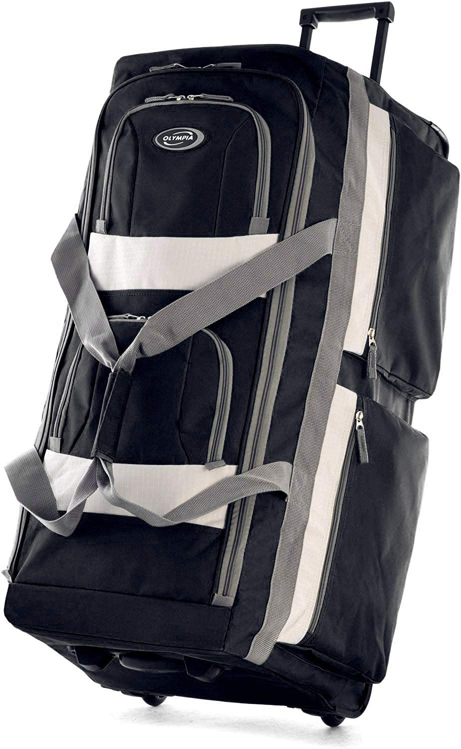Olympia 8 Pocket Rolling Duffel Bag