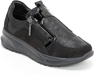 MARINA SEVAL Scarpe&Scarpe - Slip-on Fermeture Éclair Détails Vernis, Sneakers, en Cuir