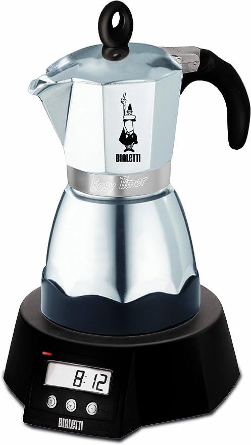 Bialetti Easy Timer - Cafetera Espresso eléctrica para 6 Tazas (Aluminio): Amazon.es: Hogar