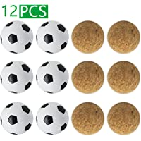 YDDS Foosball Balls for Foosball Table 6pcs Cork Foosball Balls + 6pcs Classic Table Soccer Balls