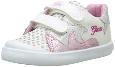 Geox B Kiwi Girl 86-K, White/Light Pink 22 EU/6.5
