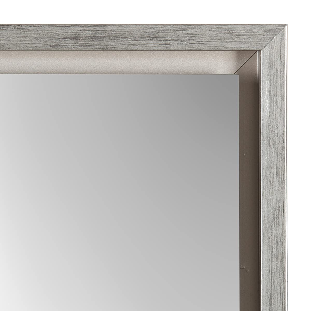 Kate and Laurel Evans Wood Framed Free Standing Mirror with Easel, Silver