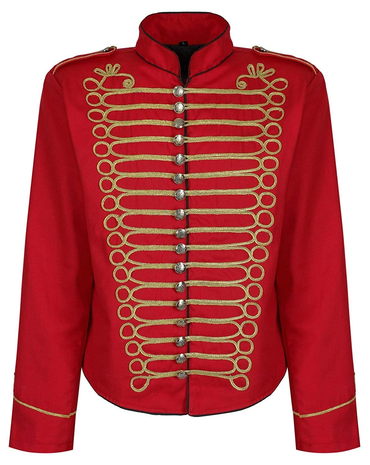 Victorian Mens Suits & Coats Ro Rox Mens Punk Officer Military Drummer Parade Jacket $59.99 AT vintagedancer.com