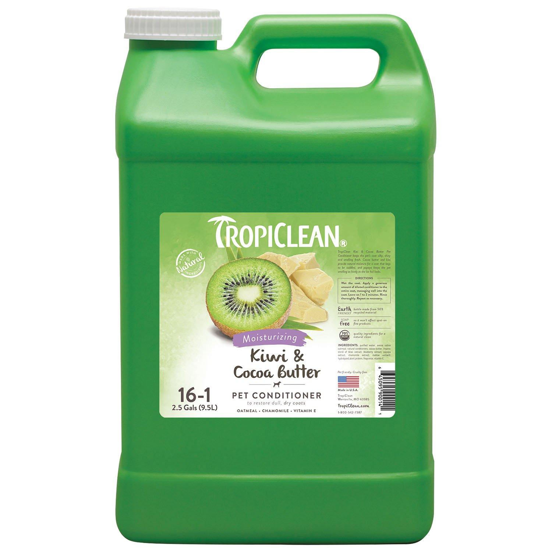 TropiClean Kiwi & Cocoa Butter Pet Conditioner, 2.5 Gallon