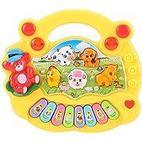 SOULONG - Juguete de piano eléctrico para bebé, juguete musical con animales firme, instrumento de música y teclados…