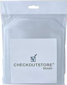 CheckOutStore 100 Stamp & Die Clear Storage Pockets (6 3/4 x 6 3/4)