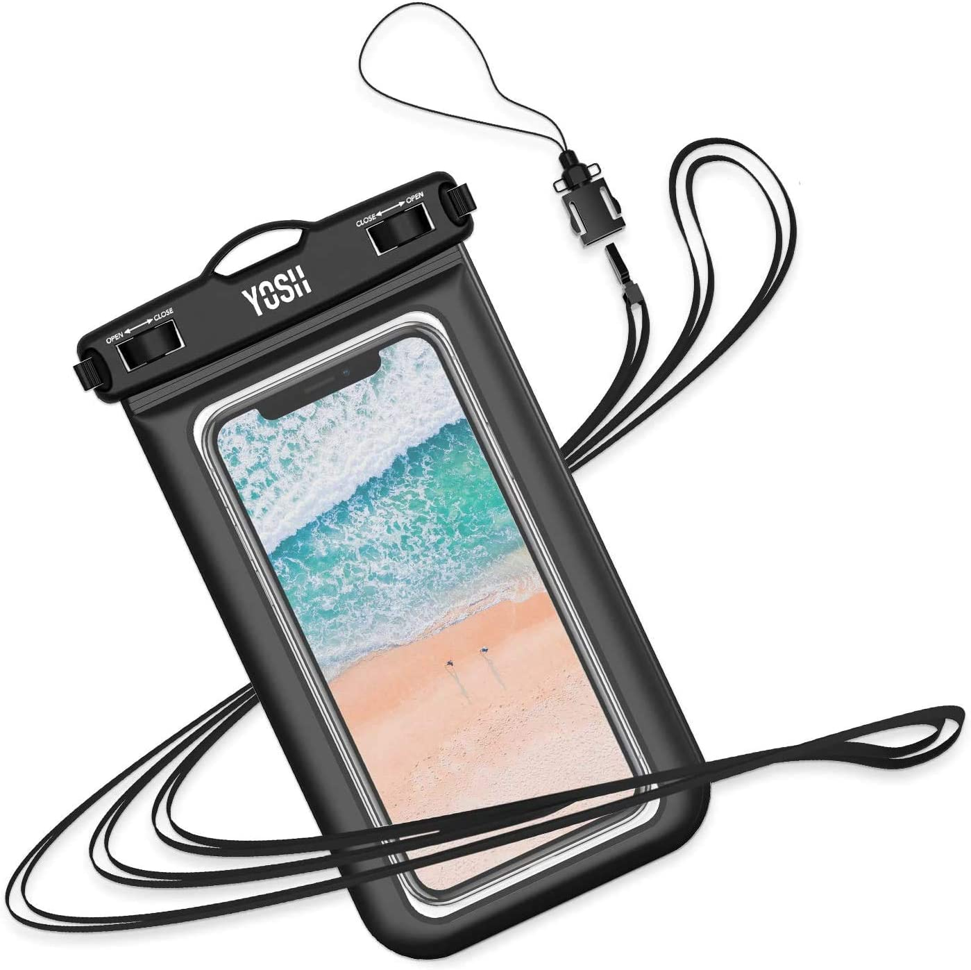 """YOSH Waterproof Phone Pouch Waterproof Case Cell phone Dry Bag Underwater Pouch Compatible with iPhone 11/X/8 Galaxy S10/S9 Google Pixel 4 up to 6.8"""""""