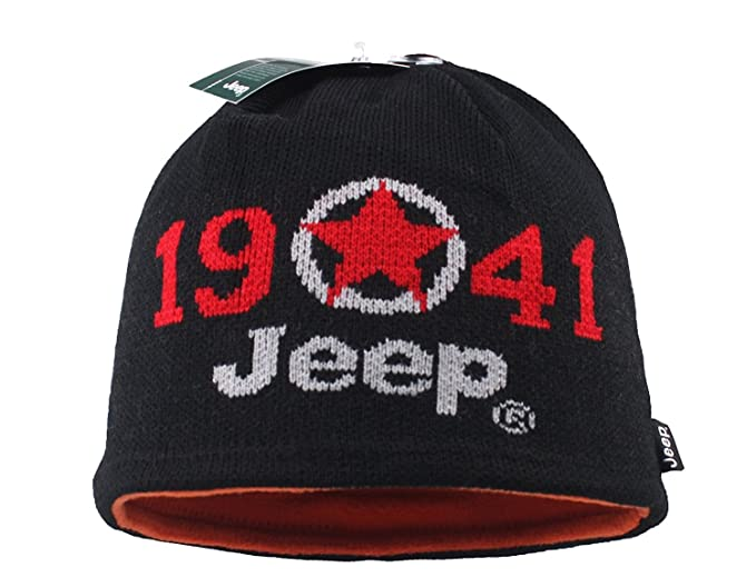 d17395ef7 Jeep 1941 Winter Hat Knit Ski Reversible Beanie Hat With The Other Fleece  Side Slouchy Beanie