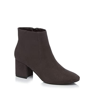 c3f21d810387 Principles Womens Dark Grey Suedette  Catrelle  Mid Block Heel Ankle Boots 4