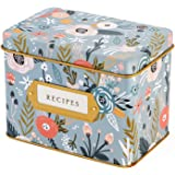 Jot & Mark Recipe Card Complete Gift Box | Decorative Tin Box, Recipe Cards, Index Dividers (24 dividers, 50 4x6 inch Cards,