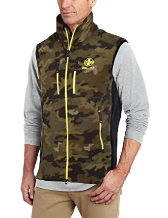 14503a5c4ad75 Image Unavailable. Image not available for. Color: RALPH LAUREN Polo RLX  Fleece Zip Jacket Vest Camo ...