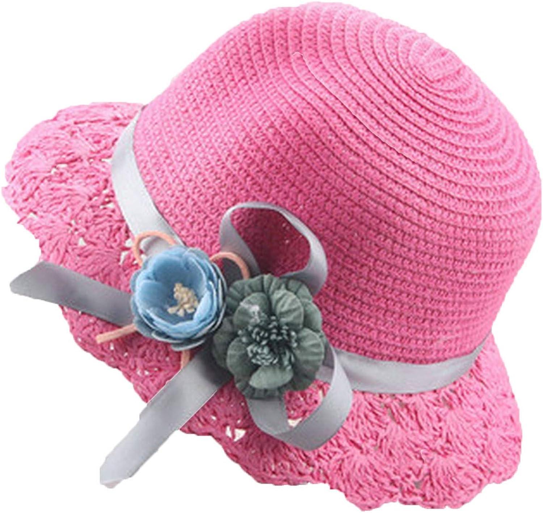 Spring Summer Girl Sun Hats Fashion Kid Brim Folding Straw Hat Children Sunscreen Beach Cap Girl Bucket Hat