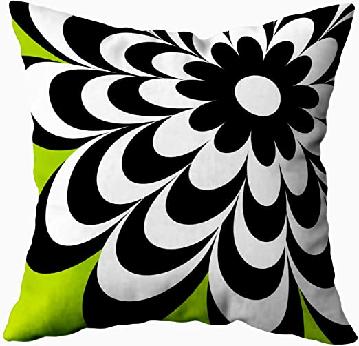 Amazon Com Capsceoll Fun Pillows Case Chic Daisy Personalized Lime Green 18x18 Pillow Cover Home Decoration Pillow Cases Zippered Covers Cushion For Sofa Couch Home Kitchen