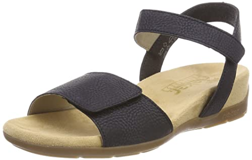 Womens 61566 Closed Toe Sandals, Blue (Dark Blue), 8 UK Rieker