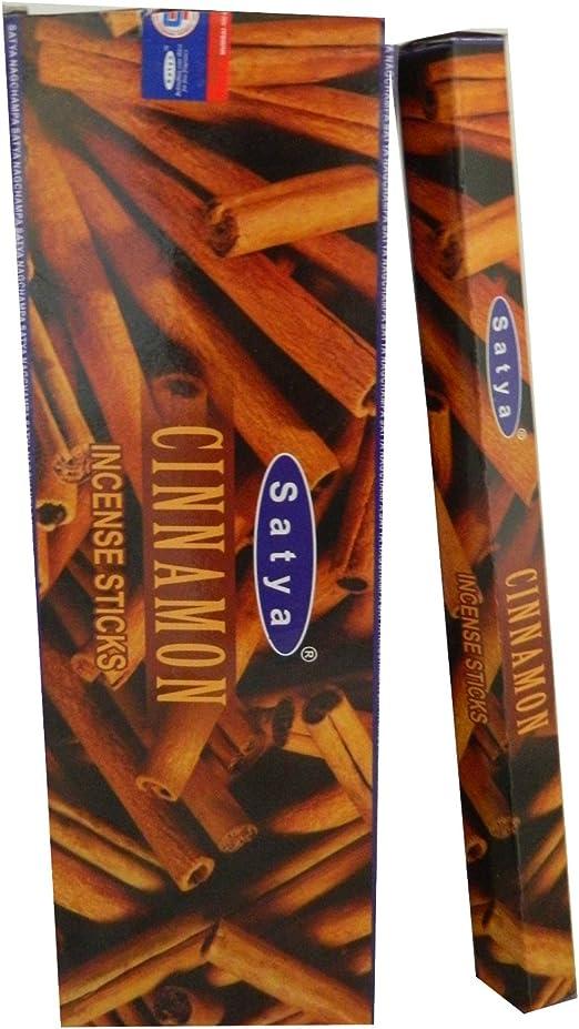 Satya Varillas de Incienso Cinnamon Canela 120 Varillas 6 cajitas ...