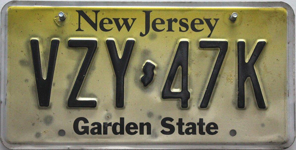 USA Nummernschild NEW JERSEY ~ US Kennzeichen LICENSE PLATE ~ Blechschild