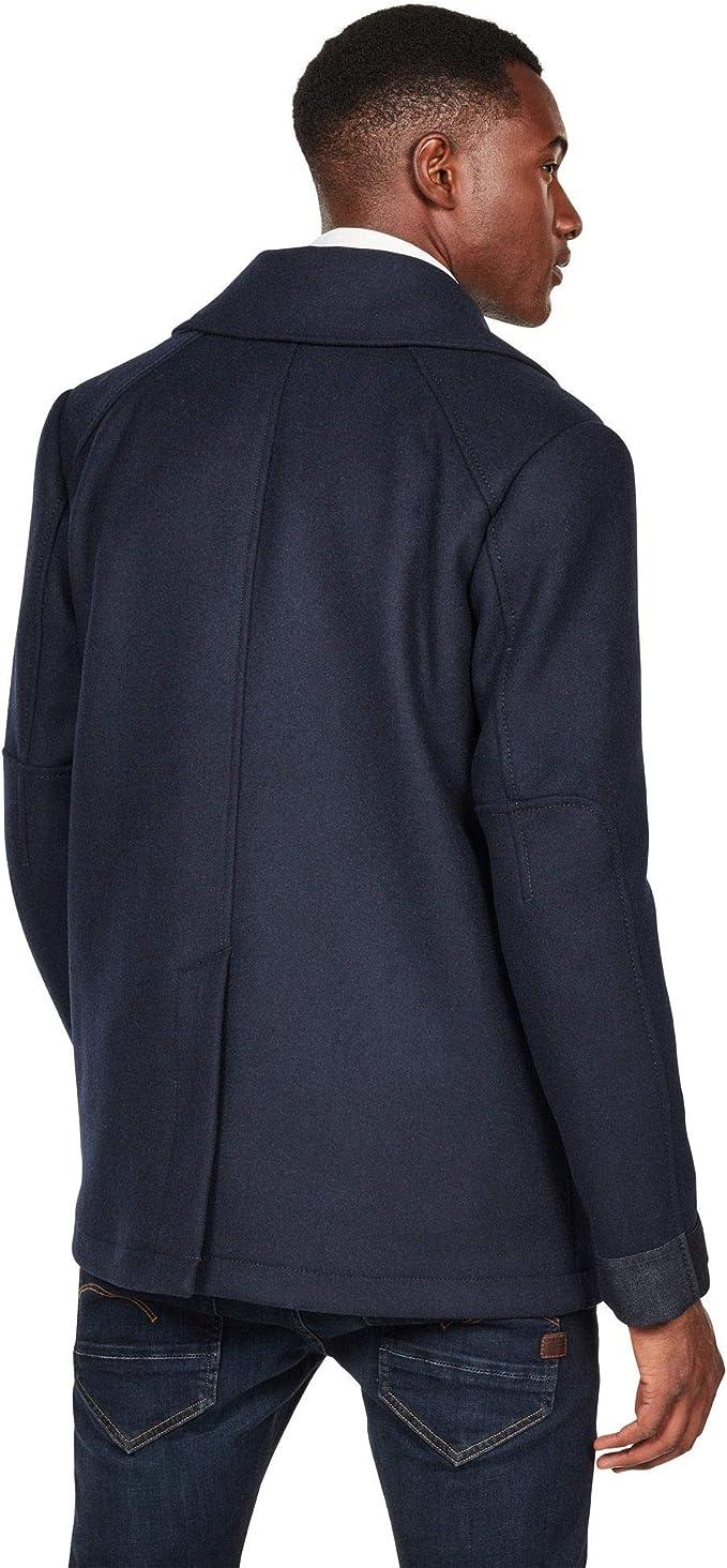 G-STAR RAW Mens Traction Wool Peacoat Coat