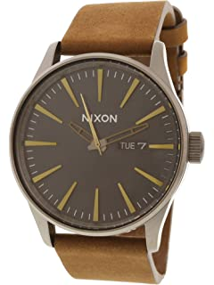 Nixon Sentry Leather Classic Mens Watch