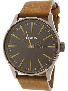 Nixon Sentry Leather Classic Mens Watch