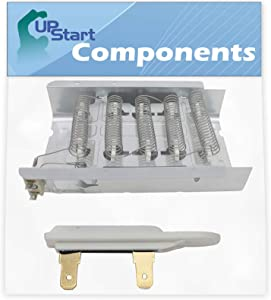 279838 Dryer Heating Element & 3392519 Thermal Fuse Replacement for Whirlpool SEDX600JQ1 Dryer - Compatible with 279838 & 3392519 Heater Element & Thermal Fuse - UpStart Components Brand