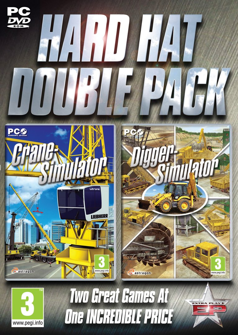 Amazon.com: Hard Hat Double Pack - Crane and Digger Simulation (PC ...