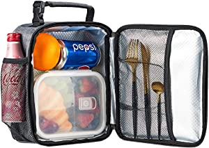 Lunch Bag, Reusable Insulated Lunch Box with Handle, Leakproof Lunch Cooler Bag for Women, Men