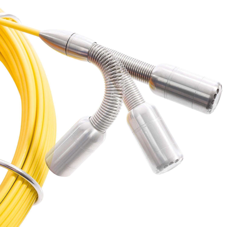 7 Zoll Farbmonitor//mit Fernbedienung//inklusive Transportkoffer//mit USB Arebos Rohrkamera bis 30 m IP68 Wasserdicht