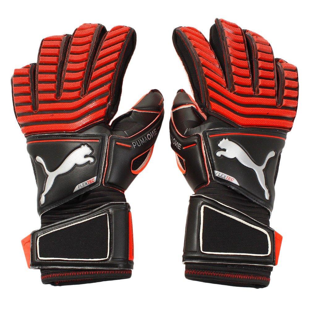 Puma One Protect 18.1 Torwarthandschuhe Fingerschutz rot-schwarz