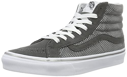 Vans UA Sk8-hi Slim, Zapatillas Altas para Mujer, Gris (Metallic Dots Dark Gray/Pewter), 36 EU: Amazon.es: Zapatos y complementos