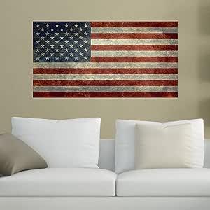 Wall Decal Vinyl Sticker Bedroom american flag eagle bird america country bo2761
