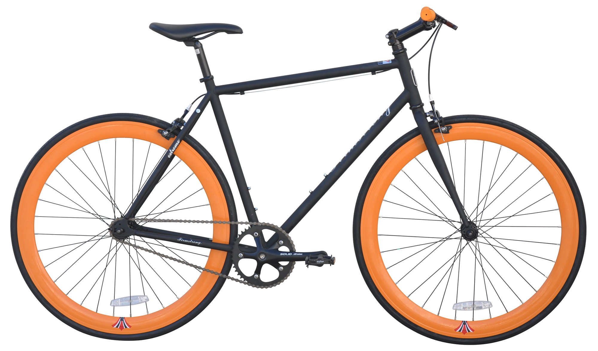 Fixie 700C Extreme 54cm Firmstrong - Matte Black and Orange by Firmstrong