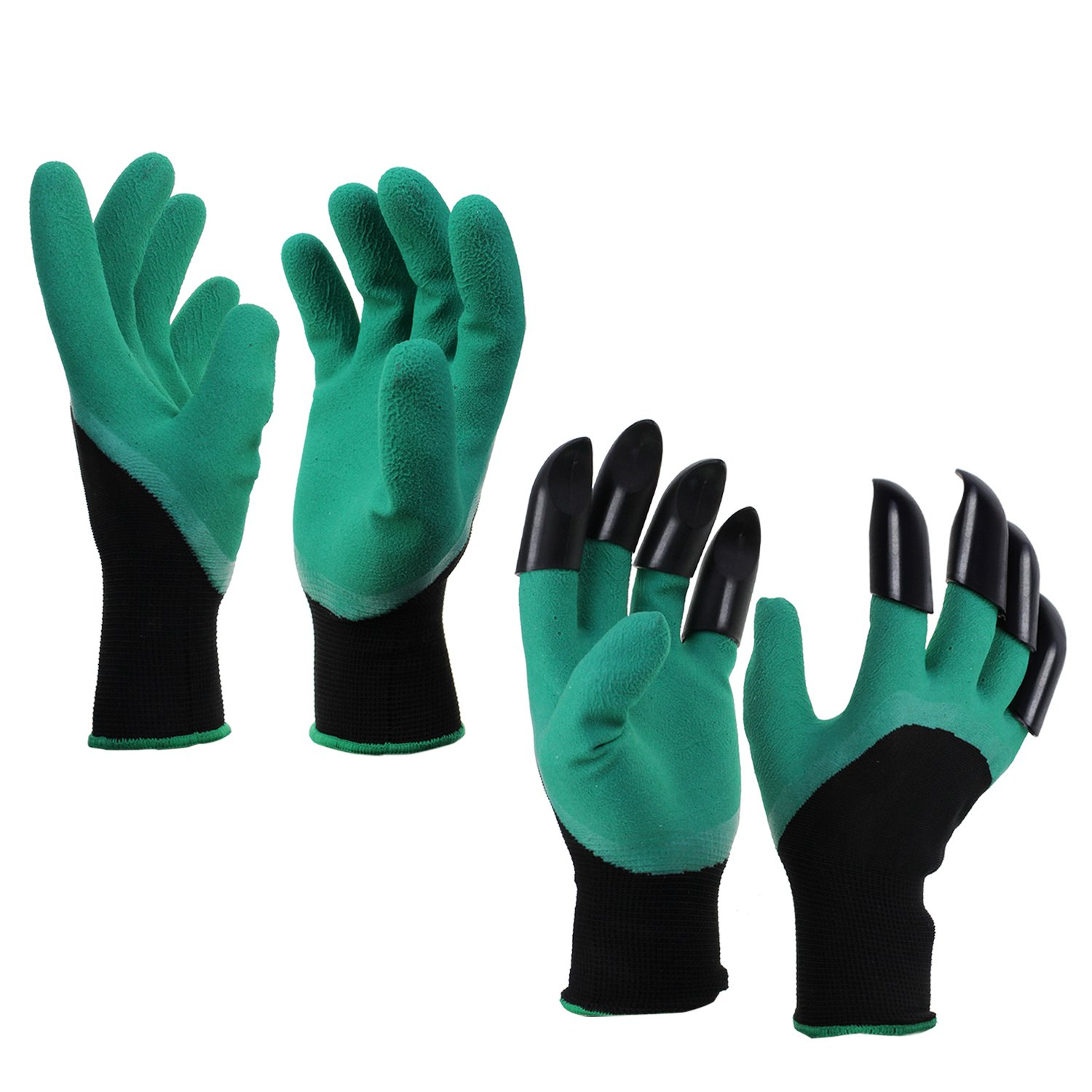 KEESIN Garden Gloves Protective Gardening Work Gloves with Sturdy Claws for Digging Planting 2 Pairs