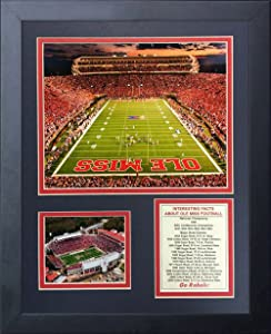 Legends Never Die Ole Miss Vaught-Hemingway Stadium Framed Photo Collage, 11 by 14-Inch