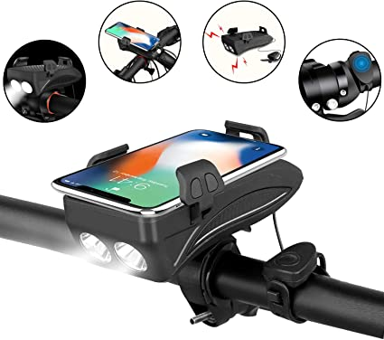 5200mAh USB Rechargeable Bicycle Light with Power Bank /& WAKYME Bike Light Set