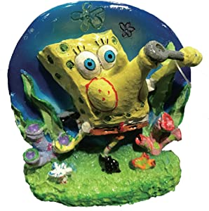 Penn Plax Spongebob Blowing Bubbles Aerating Ornament